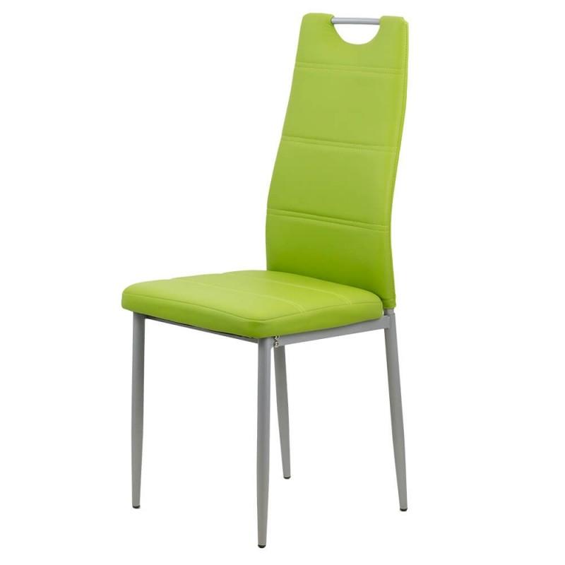 Scaun bucatarie, piele ecologica, suporta maxim 120 kg, Verde 2021 shopu.ro