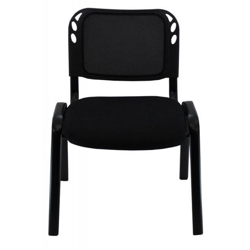 Scaun conferinta, tapiterie stofa, suporta maxim 110 kg, negru shopu.ro