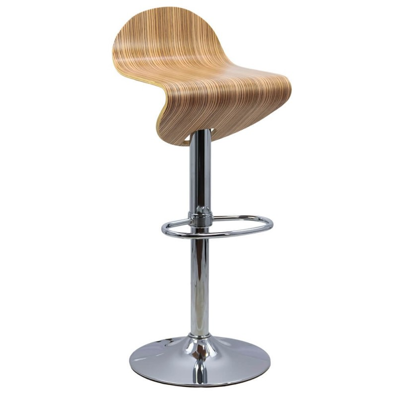 Scaun pentru bar, lemn lacuit, inaltime 93 cm, suporta maxim 100 kg, Maro 2021 shopu.ro