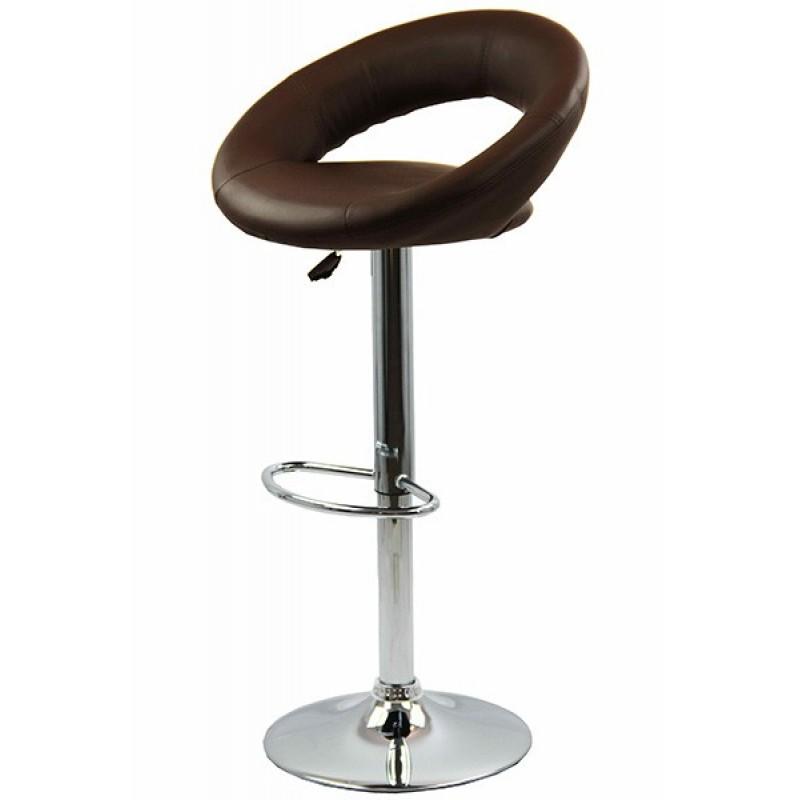 Scaun pentru bar rotativ, inaltime reglabila, piele ecologica, Maro 2021 shopu.ro
