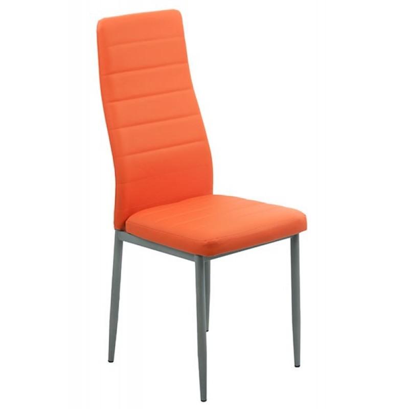 Scaun de bucatarie, suporta maxim 120 kg, piele ecologica, portocaliu 2021 shopu.ro