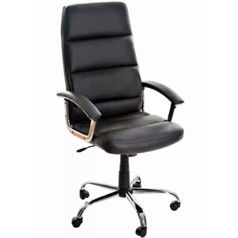 Scaun ergonomic, suporta maxim 110 kg, piele ecologica, negru 2021 shopu.ro