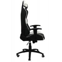 Scaun pentru gaming, inaltime maxima 134 cm, suporta 110 kg, Negru/Alb