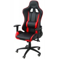 Scaun pentru gaming, inaltime maxima 134 cm, suporta 110 kg, Negru/Rosu