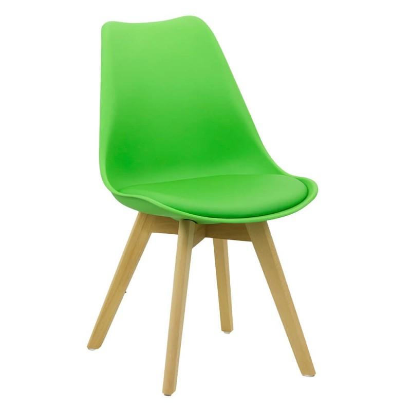 Scaun living, piele ecologica, inaltime 81 cm, suporta maxim 110 kg, verde 2021 shopu.ro