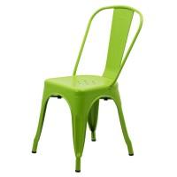 Scaun metalic, inaltime 85 cm, suporta maxim 110 kg, verde