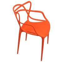 Scaun plastic pentru terasa, inaltime 83 cm, suporta maxim 100 kg, portocaliu