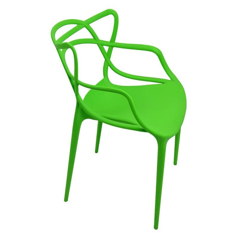 Scaun plastic pentru terasa, inaltime 83 cm, suporta maxim 100 kg, verde shopu.ro