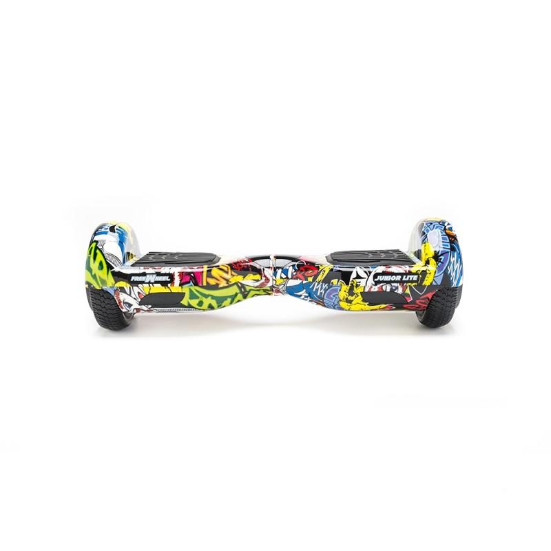 Hoverboard Junior Lite Graffiti Freewheel, 400 W, autonomie 8-12 km, 12 km/h, maxim 50 kg, Multicolor 2021 shopu.ro