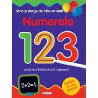 Numerele Scrie si sterge de cate ori vrei, 24 pagini