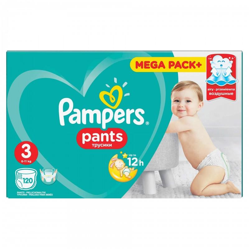 Scutece Pampers Active Baby Pants 3 Mega Box, 120 buc/pachet 2021 shopu.ro