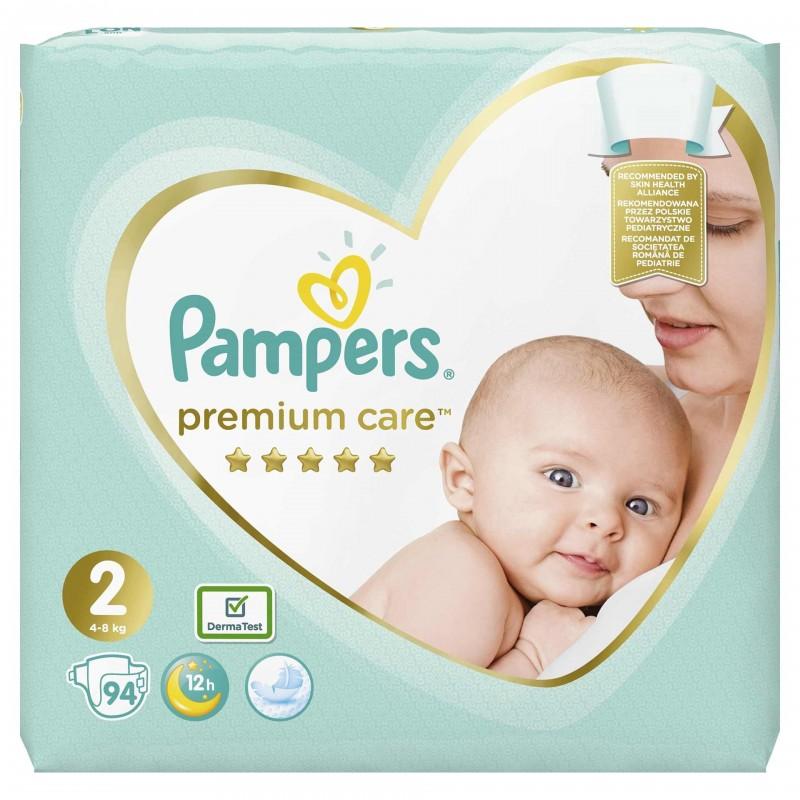 Scutece Pampers Premium Care 2 Jumbo Pack, 4-8 kg, 94 buc/pachet 2021 shopu.ro