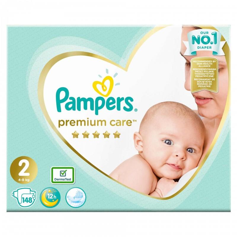 Scutece Pampers Premium Care 2 New Baby Mega Box, 148 buc/pachet 2021 shopu.ro