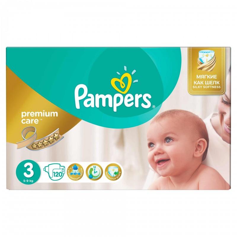 Scutece Pampers Premium Care 3 Mega Box, 120 buc/pachet 2021 shopu.ro