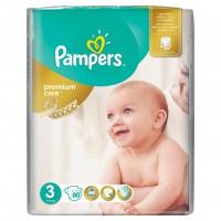 Scutece Pampers Premium Care 3 Midi Jumbo Pack, 80 buc/pachet