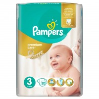 Scutece Pampers Premium Care 3 Midi Small Pack, 20 buc/pachet