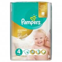 Scutece Pampers Premium Care Maxi Small Pack, marimea 4, 18 buc/pachet