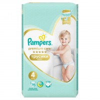 Scutece Pampers Premium Care Pants 4 Mega Box, 58 buc/pachet