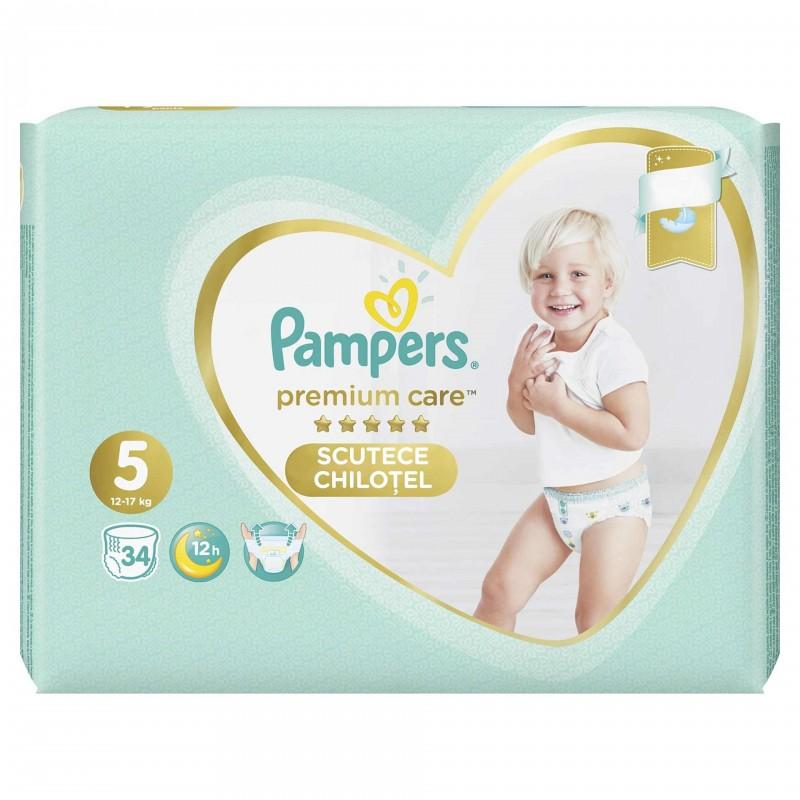 Scutece Pampers Premium Care Pants 5 Value Pack, 34 buc/pachet 2021 shopu.ro