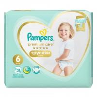 Scutece Pampers Premium Care Pants 6 Value Pack, 31 buc/pachet