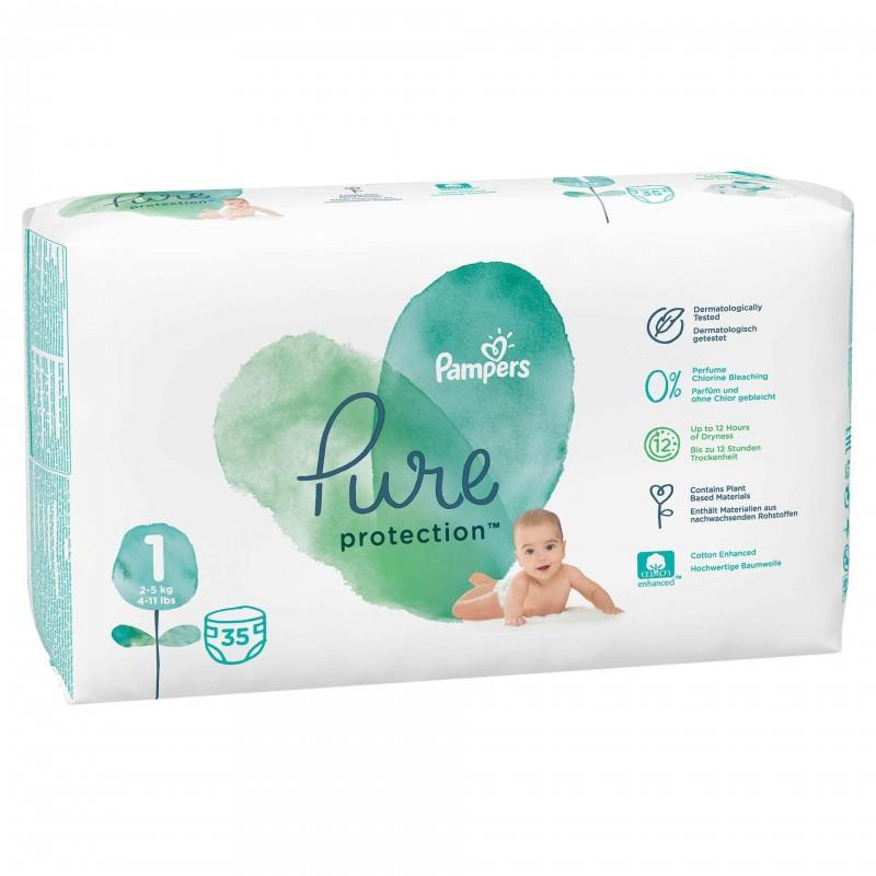 Scutece Pampers Pure Carry Pack, marimea 1, 35 bucati/pachet 2021 shopu.ro