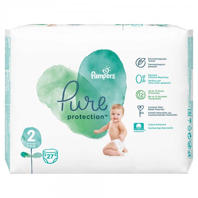 Scutece Pampers Pure Carry Pack, marimea 2, 27 bucati/pachet 2021 shopu.ro