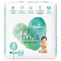 Scutece Pampers Pure Carry Pack, marimea 3, 22 bucati/pachet