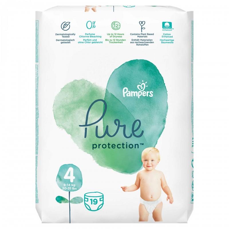 Scutece Pampers Pure Carry Pack, marimea 4, 19 bucati/pachet 2021 shopu.ro