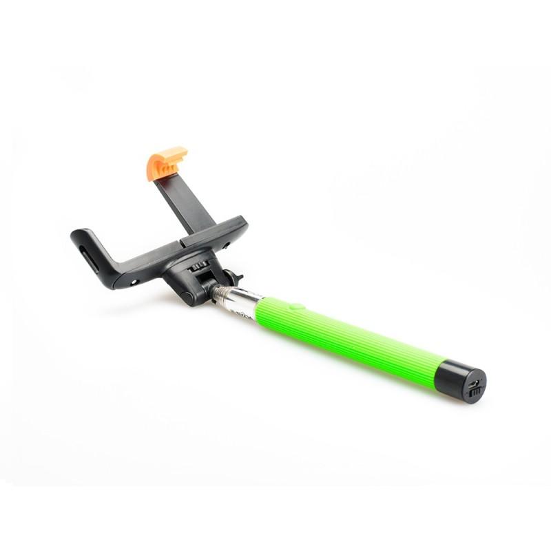 Selfie stick cu bluetooth E-Boda, 100 cm, 45 mAh, raza actiune 10 m, maxim 500 g, Verde 2021 shopu.ro