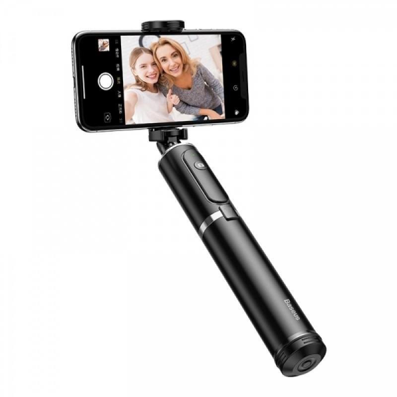 Selfie Stick Tripod Baseus 2 in 1, Bluetooth, 50 mA, 810 mm, telecomanda detasabila