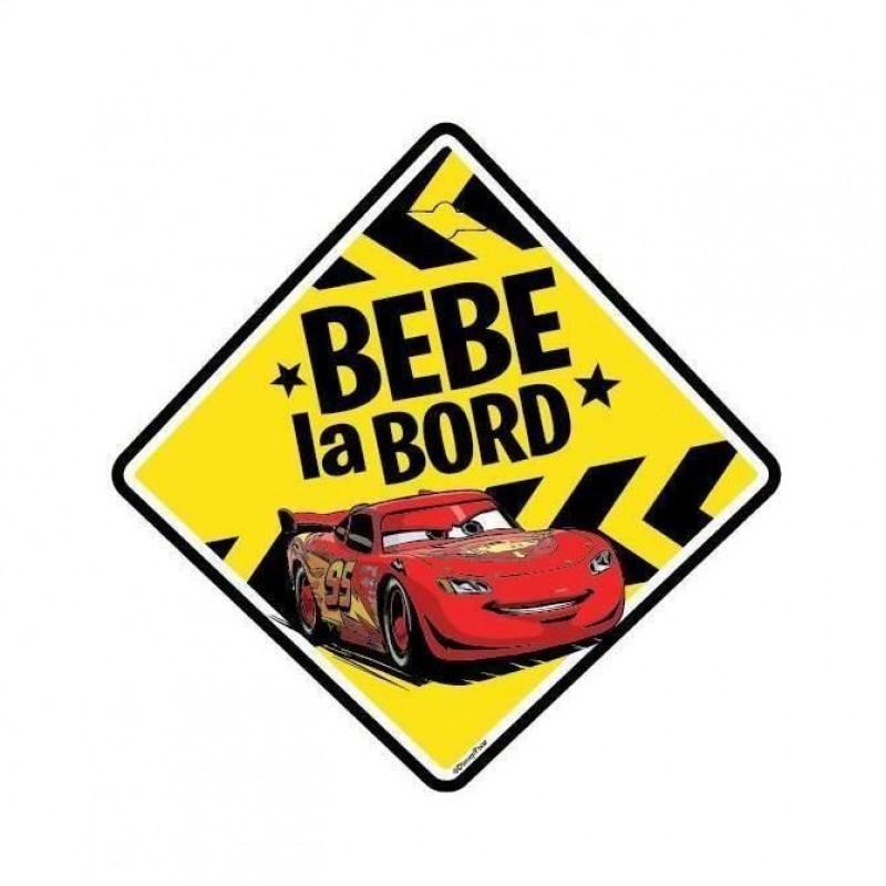 Semn auto Bebe la Bord Cars, usor de montat, 13 x 13 cm 2021 shopu.ro