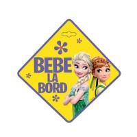 Semn auto Bebe la Bord Frozen, usor de montat, 13 x 13