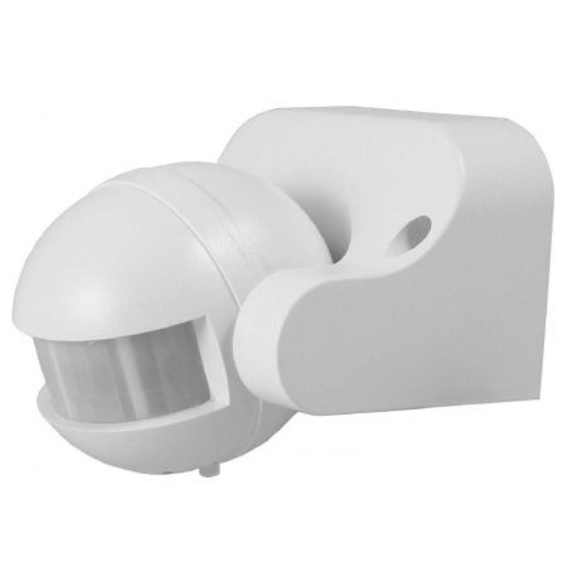 Senzor miscare cu infrarosu, 300 W, 12 m, raza detectie 180 grade, Alb 2021 shopu.ro