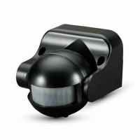 Senzor miscare cu infrarosu, 300 W, 12 m, 2000 lux, Negru