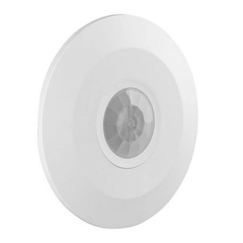 Senzor miscare montaj tavan, 2000 W, detectare prin infrarosu, maxim 6 m, plastic/aluminiu, Alb 2021 shopu.ro