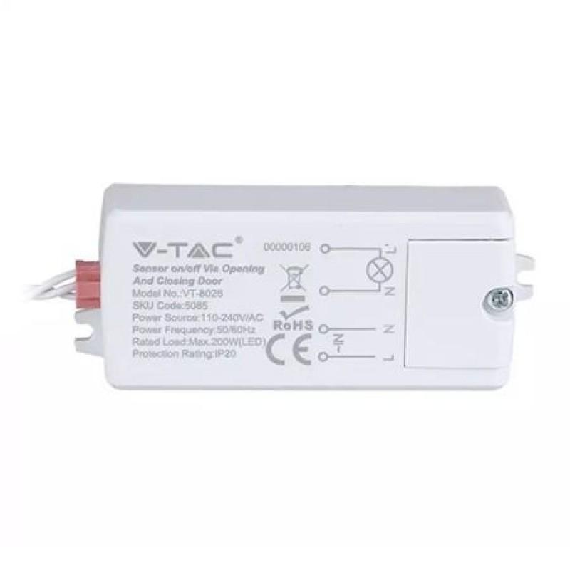 Senzor miscare On/Off, 300 W, reactie la inchidere/deschidere usa, IP20 2021 shopu.ro