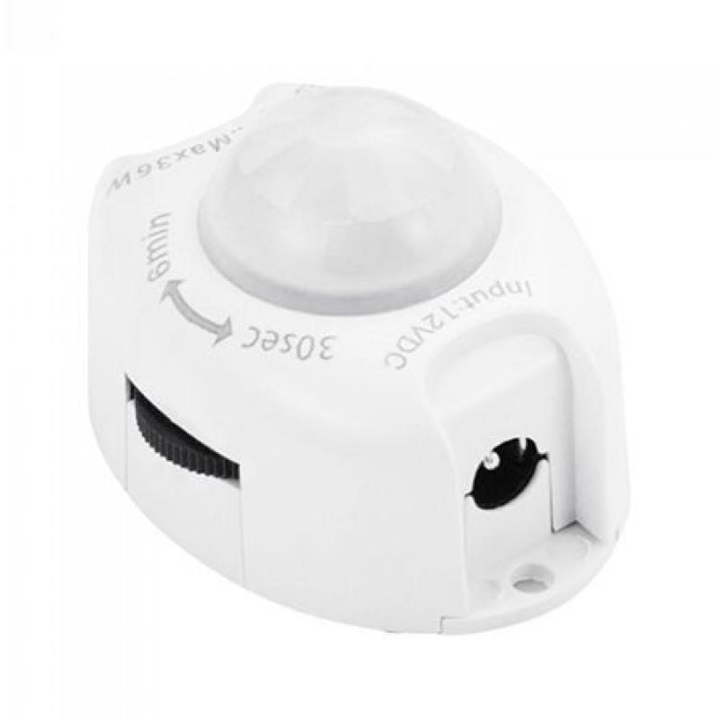 Senzor miscare pentru banda LED, 36 W, distanta detectie 2-5 m, temprizator 2021 shopu.ro