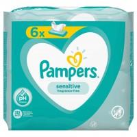Servetele umede Pampers Sensitive 6pk, 6 x 52 buc