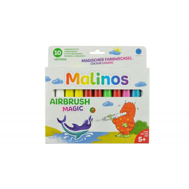 Set 10 carioci magice de suflat Malinos, 4 sabloane, 5 ani+ 2021 shopu.ro