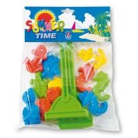 Set 10 forme pentru nisip Androni Giocattoli, plastic