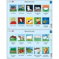 Set 10 Puzzle-uri Read and Look 11 -20 (EN), 10 piese