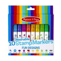 Set 10 stampile marker lavabile Fun, Melissa and Doug