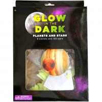Set stickere fosforescente Stele/Planete Bambinice, 108 bucati, plastic, 3 ani+