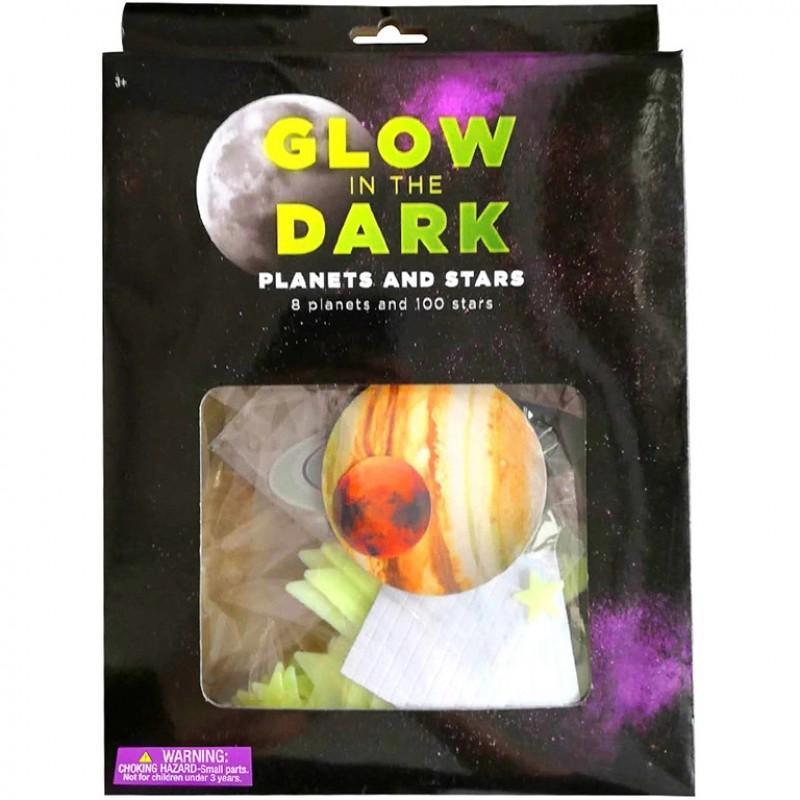 Set stickere fosforescente Stele/Planete Bambinice, 108 bucati, plastic, 3 ani+ 2021 shopu.ro