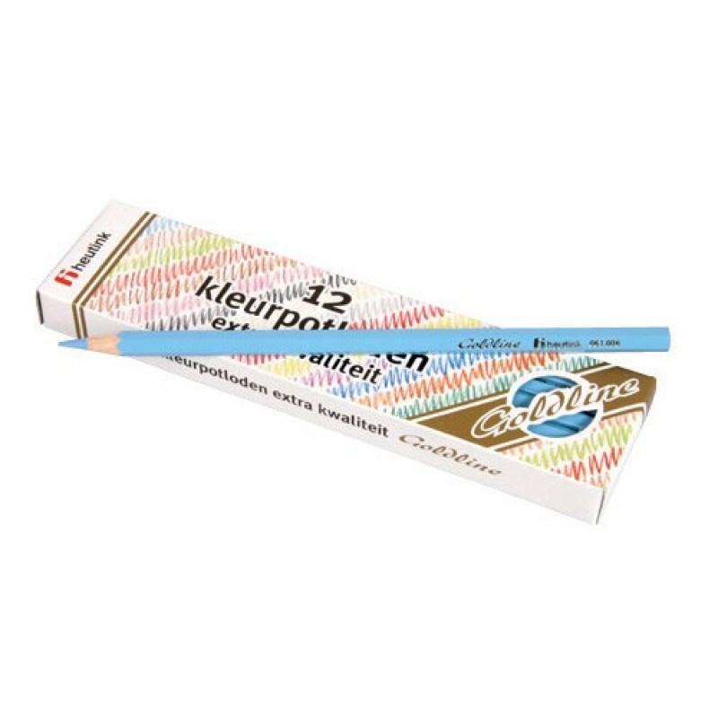 Set 12 creioane colorate Goldline Heutink, 3.7 mm, Bleu 2021 shopu.ro