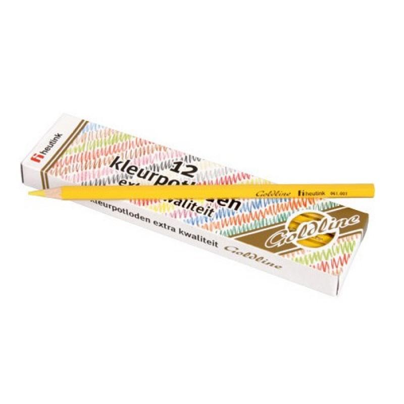 Set 12 creioane colorate Goldline Heutink, 3.7 mm, Galben deschis 2021 shopu.ro
