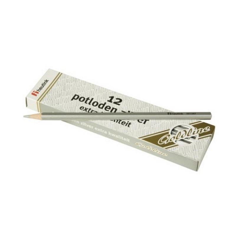 Set 12 creioane hexagonale Goldline Heutink, argintiu metalic 2021 shopu.ro