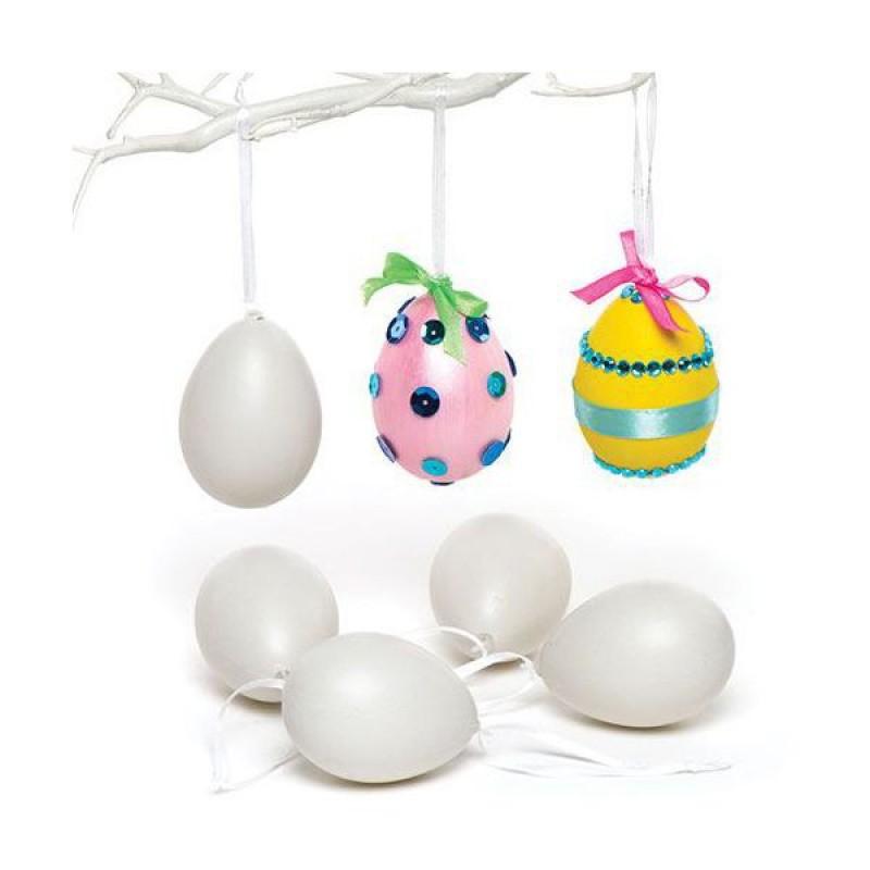 Set 12 oua din plastic de agatat Baker Ross, dimensiune 7 cm 2021 shopu.ro