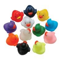 Set 12 ratuste de baie Eddy Toys, 6 x 5 cm, cauciuc, 12 luni+, Multicolor