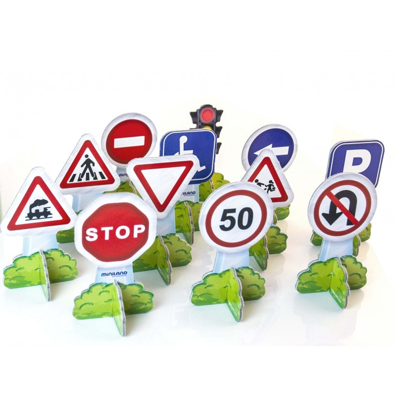 Set semne de circulatie mini Miniland